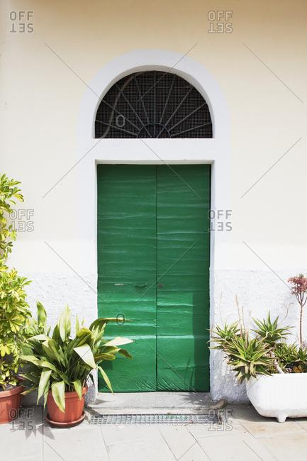 A Quaint Green Door; Riomaggiore, Liguria, Italy