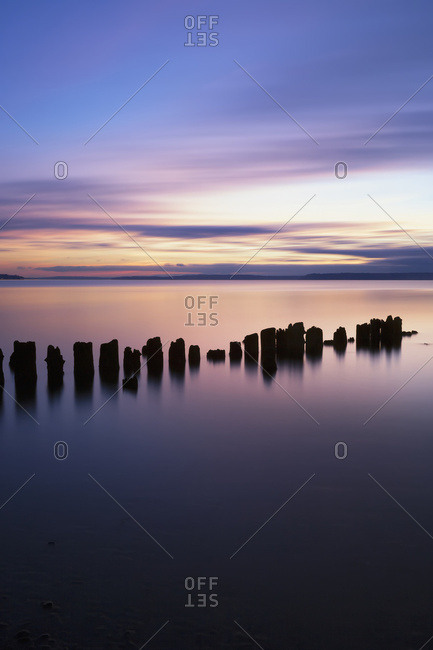 Sunset At Picnic Point; Everett, Washington, United States Of America