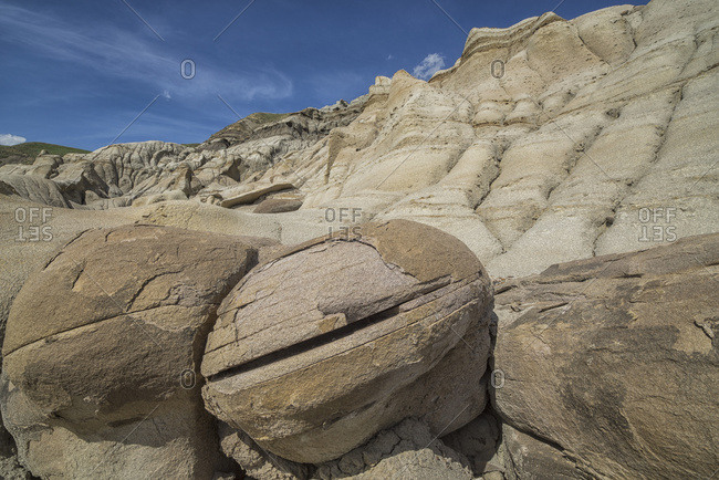 The Erosion Around Drumheller, Alberta, Forming Interesting Formations And Hoodoos; Alberta, Canada