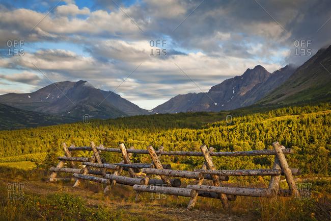 Chugach Mountains In Evening Light, Chugach State Park; Alaska, United States Of America