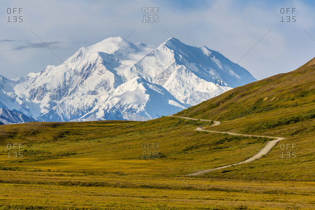 Close Up View Of Mt. McKinley And Thorofare Pass In Denali National Park; Alaska, United States Of America