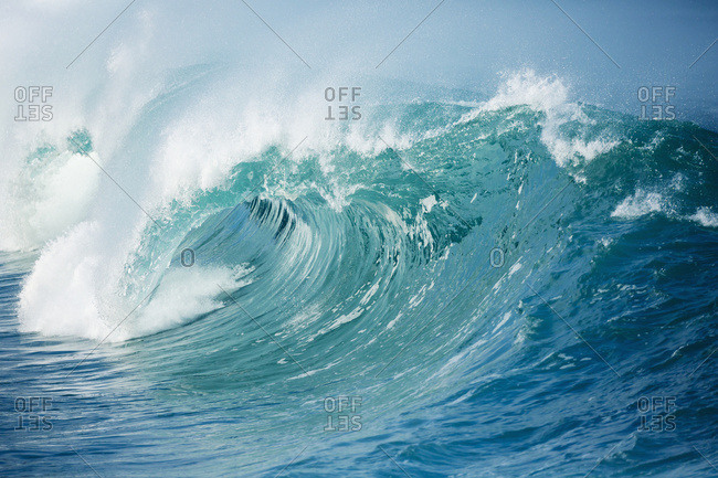 Waves Breaking On The North Shore In Waimea Bay; Oahu, Hawaii, United States Of America