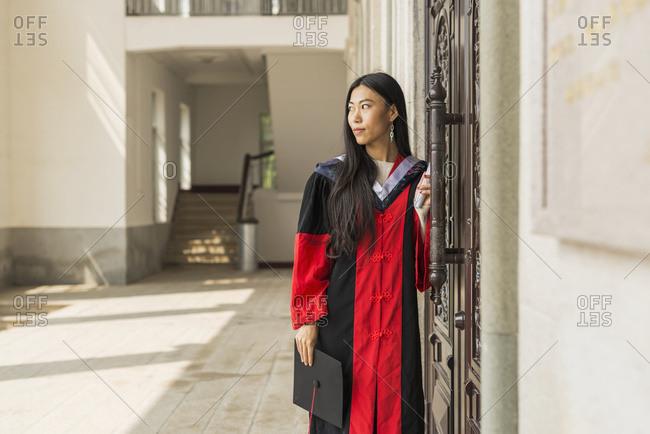 Female Student At University Graduation; Xiamen, Fujian, China