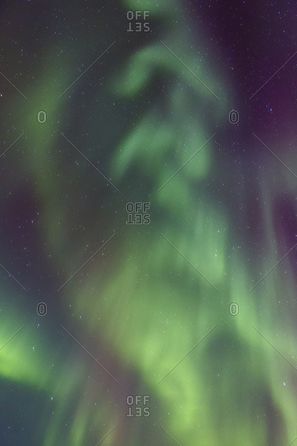 Northern Lights Dance In Clear Skies Above Barrow, Arctic Alaska; Alaska, United States Of America