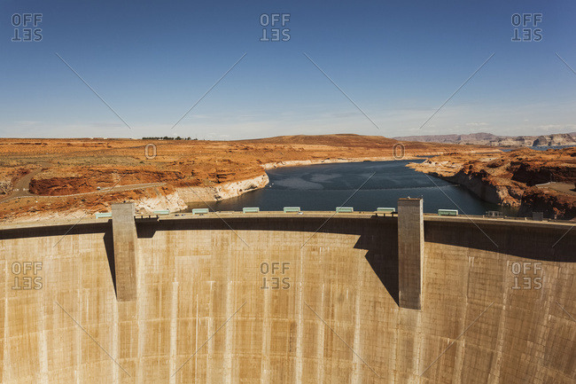 Glen Canyon Dam, Colorado River; Arizona, United States Of America