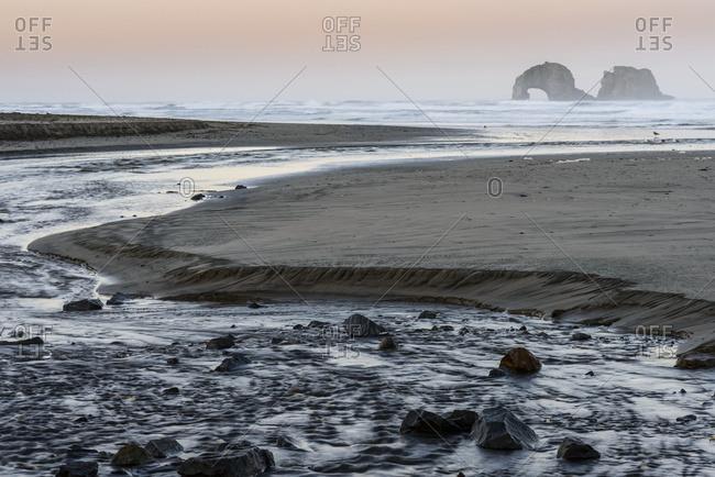 Morning Comes To Rockaway Beach; Rockaway Beach, Oregon, United States Of America