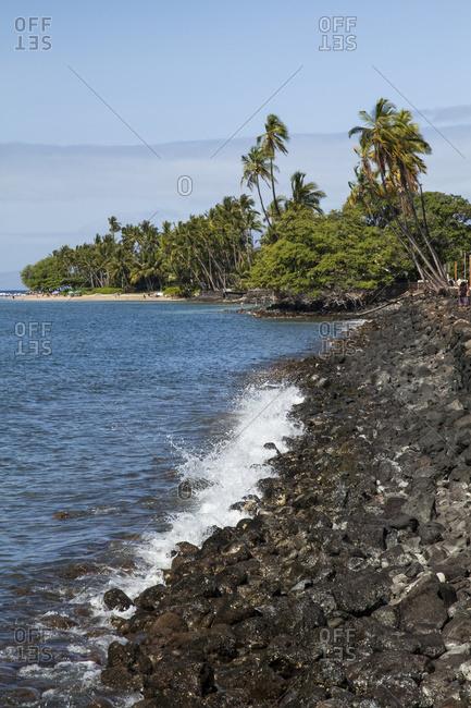 Seawall Along Front Street; Lahaina, Maui, Hawaii, United States Of America