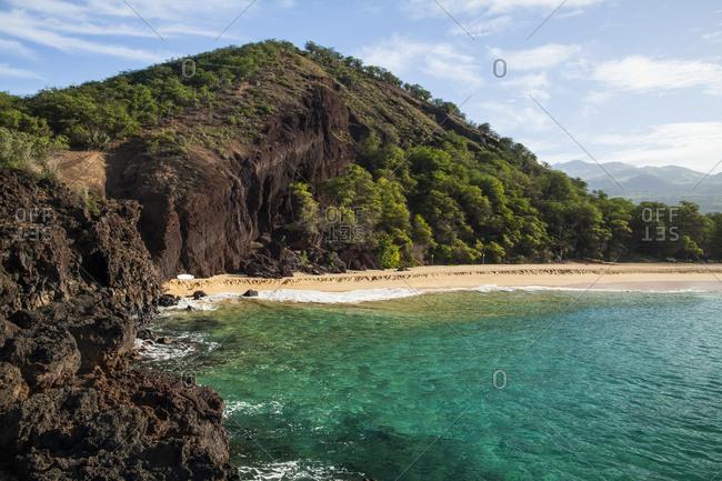 Pu'u Ola'i (Cinder Cone), Oneloa Beach (Big Beach), Makena State Park; Maui, Hawaii, United States Of America
