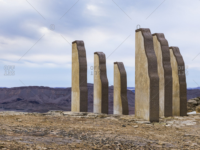 Stone Sculptures In The Ramon Nature Reserve; Mitspe Ramon, Israel