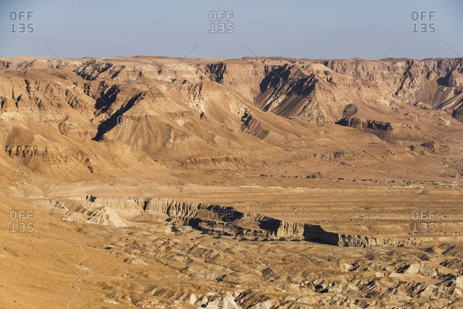 Barren And Arid Landscape Of The Judaean Desert; South District, Israel