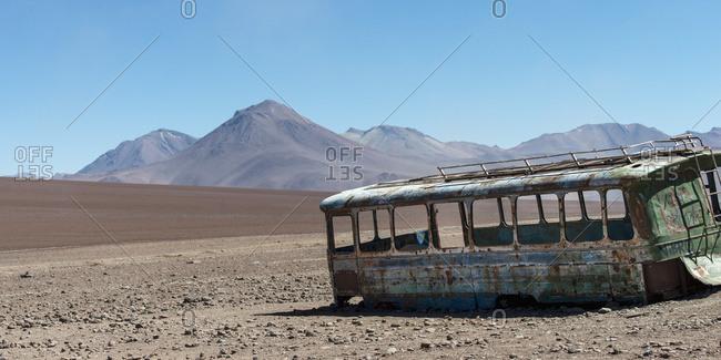 November 23, 2013: Border Between Chile And Bolivia, Los Flamencos National Reserve; San Pedro De Atacama, Antofagasta Region, Chile