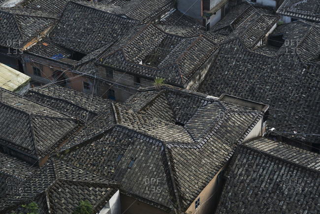 July 7, 2014: House Rooftops; Xiapu, Fujian, China