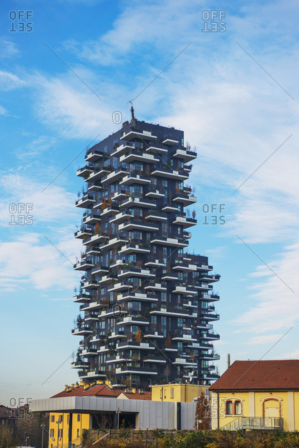 December 12, 2014: Luxury Residences, Bosco Verticale Tower; Milan, Lombardy, Italy