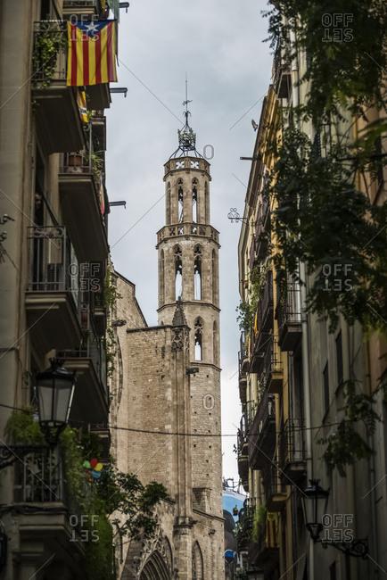 September 2, 2015: Santa Maria Del Mar Church, Gothic Quarter; Barcelona, Catalonia, Spain