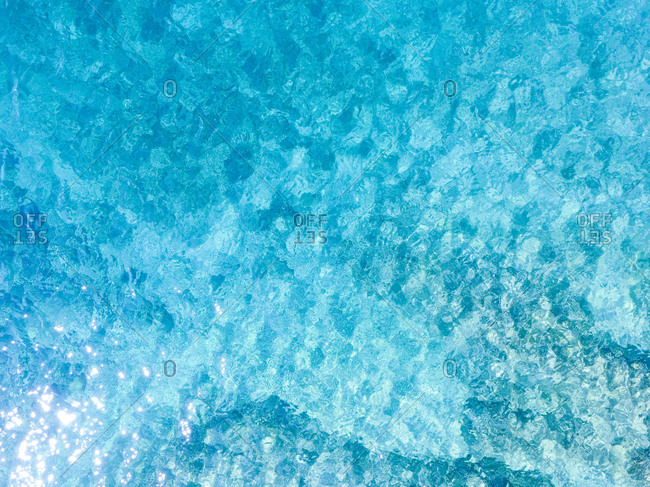 Aerial view of beautiful clear sea water