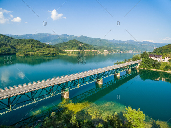 The bridge over Jablanicko lake in Bosnia and Herzegovina.