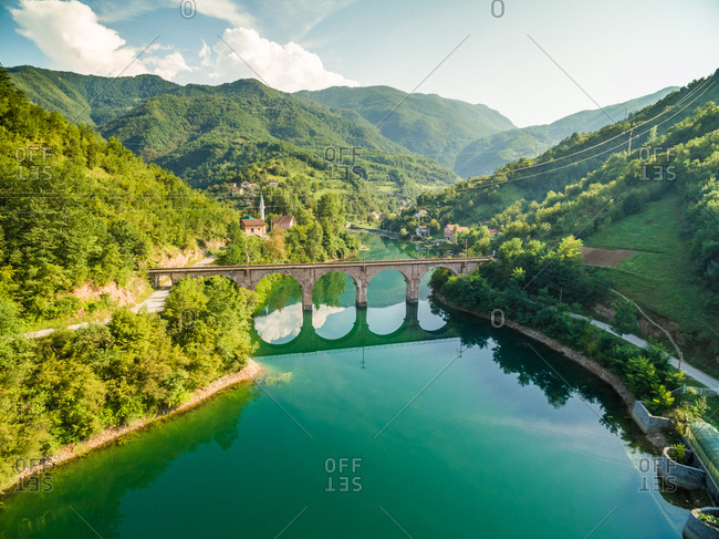 Old bridge over Jablanicko lake in Bosnia and Herzegovina.
