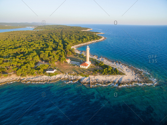 Lighthouse  in Veli Rat in Croatia