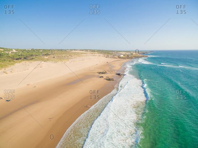 Praia da Guincho beach Portugal, popular with kite surfers