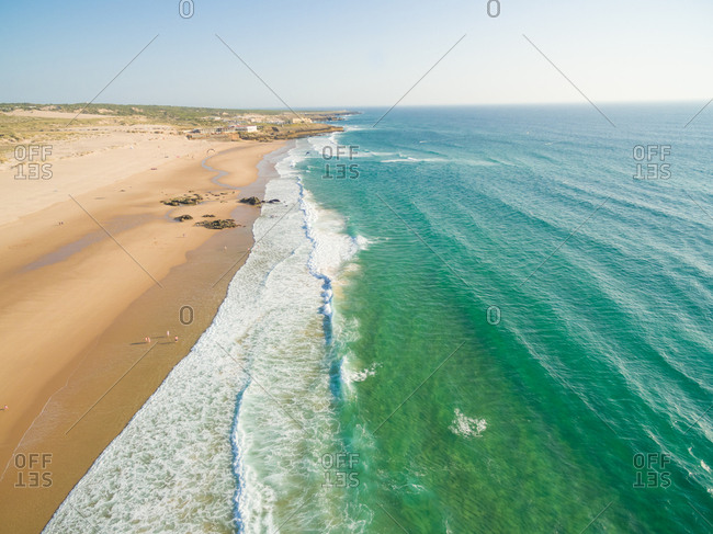 Praia da Guincho beach Portugal, popular with kite surfers