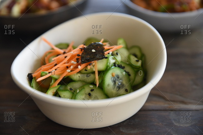 Small cucumber and carrot dish