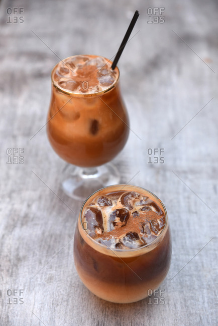 Two iced cocktails