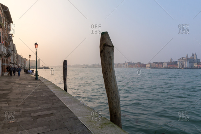 March 19, 2014: The Giudecca Island Seafront at Sunset