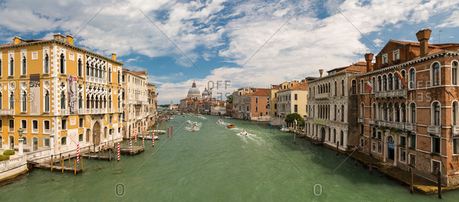 June 20, 2015: Panorama of the Grand Canal of Venice from the Ponte dell'Accademia