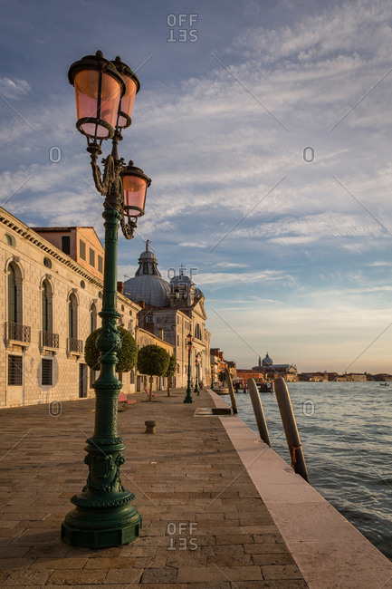 The Giudecca Island Seafront at Sunset