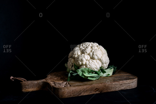 Cauliflower on dark background
