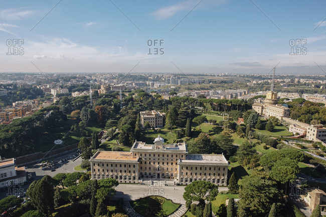 Palace of the Governorate seen from St. Peter's Basilica, Vatican, Italy
