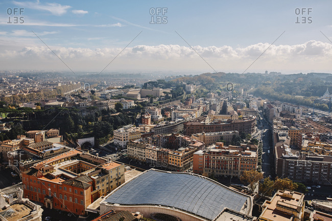 Rome seen from St. Peter's Basilica, Vatican, Italy