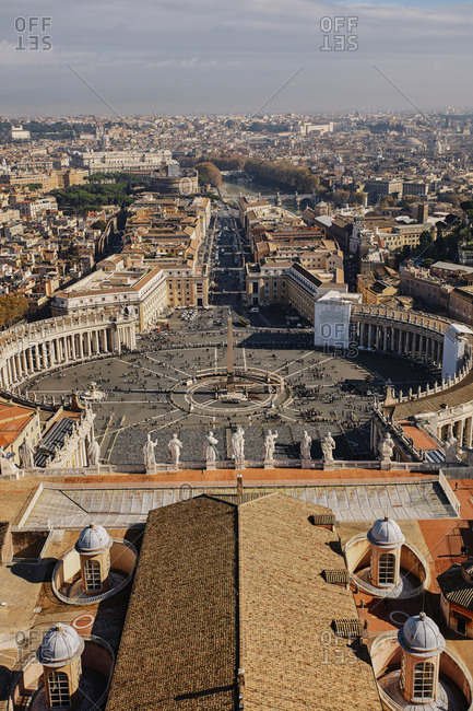 View of St. Peter's Square Basilica, Vatican, Italy