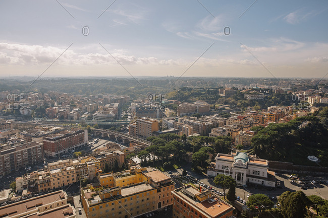 View of Rome from St. Peter's Basilica, Vatican, Italy