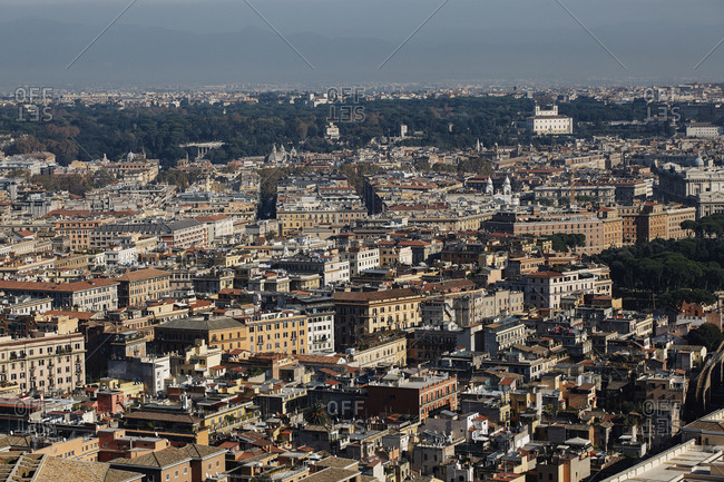 City view of Rome from St. Peter's Basilica, Vatican, Italy