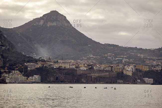 Hillside view of Bay of Naples, Italy
