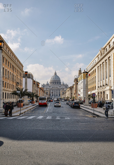 Vatican City - November 12, 2010: St. Peter's Square and Basilica