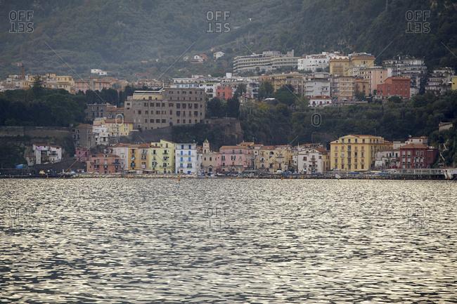 Waterfront neighborhood on Bay Of Naples, Italy