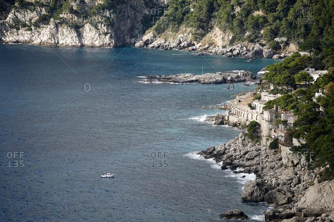 Beautiful view on Capri Island, Italy