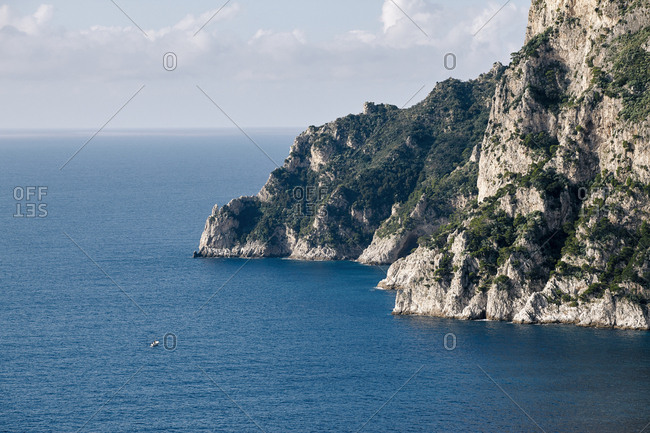 Open sea hillside view in Capri