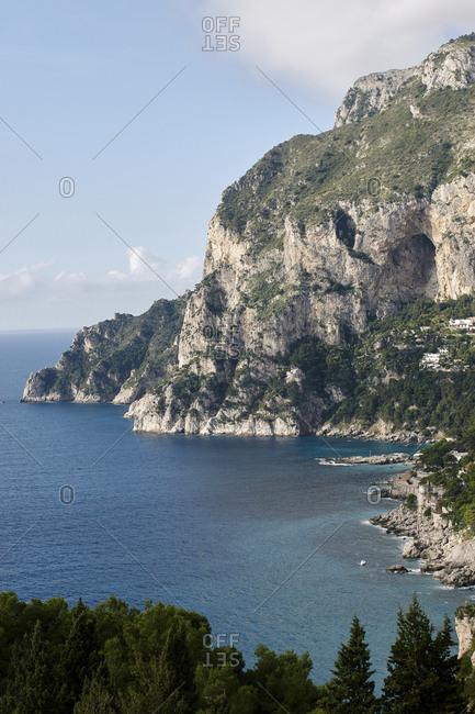 Panoramic view on Capri, italy