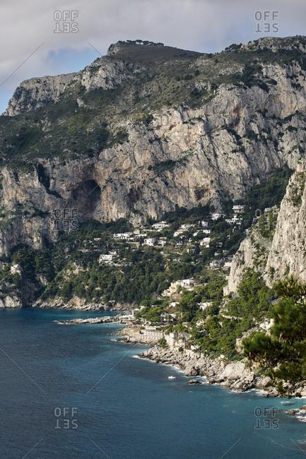Hillside village on Capri Island, italy