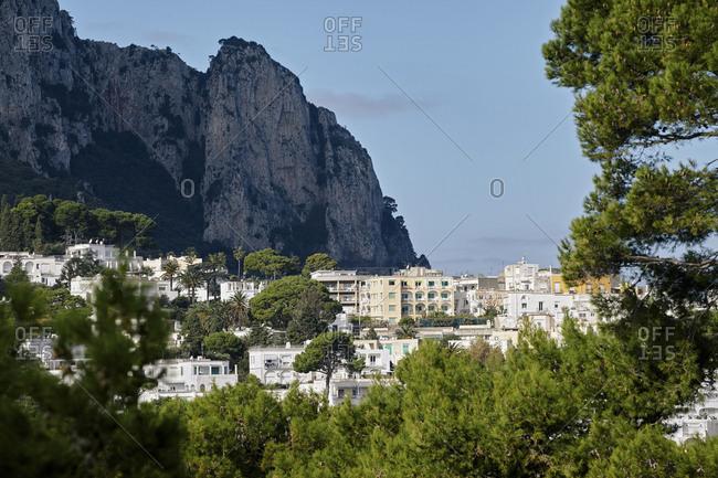 Mountainside housing on Capri Island, Italy
