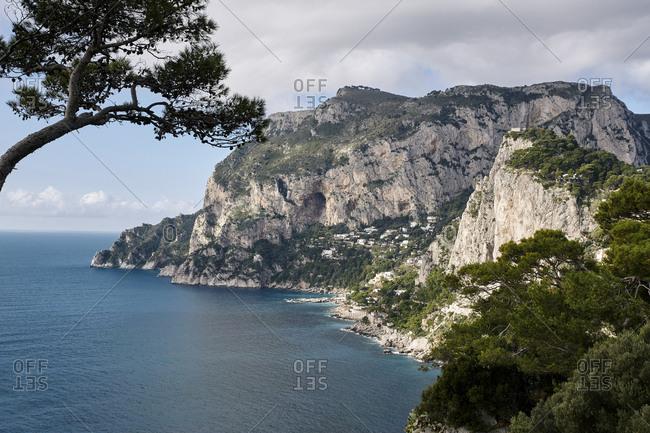 Rocky shore of Capri Island, Italy