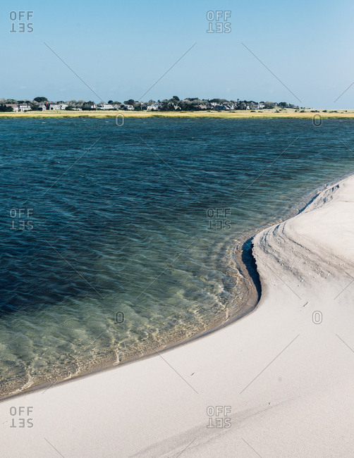 Sandy shore of Cape Cod Bay
