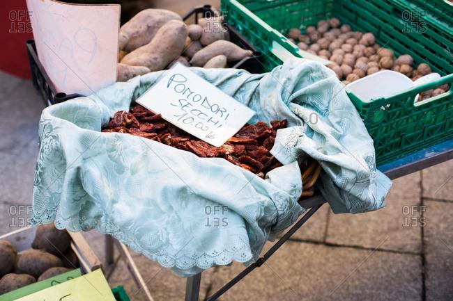 Market scene in Italy