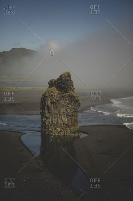 Rock formations at the Dyrholaey peninsula of south Iceland