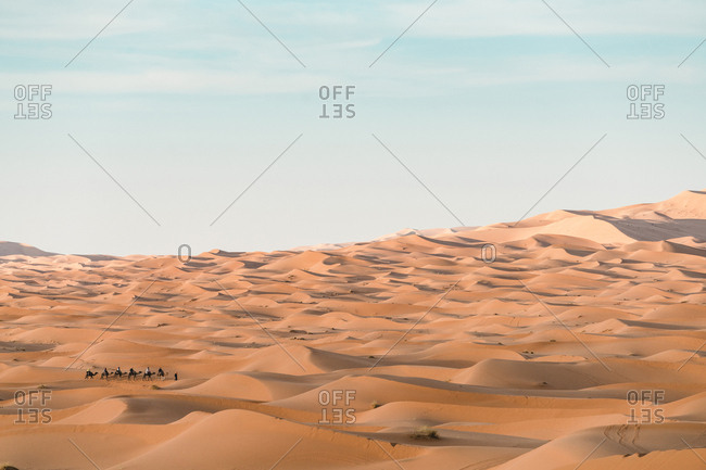 Scenic view of Merzouga desert against sky