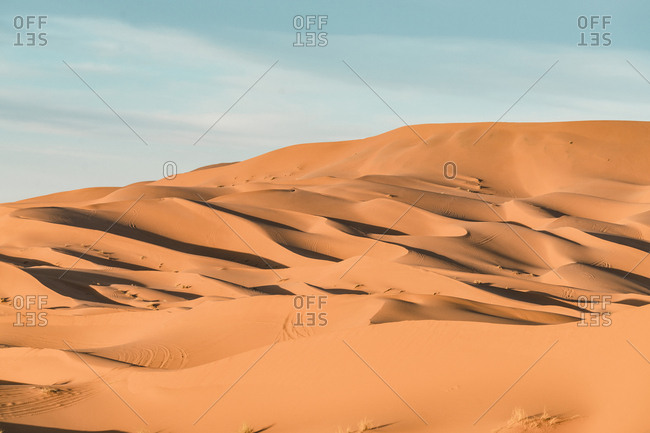 Scenic view of Merzouga desert against sky