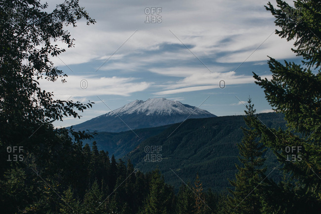 Mt. Saint Helens dormant volcano in Washington state